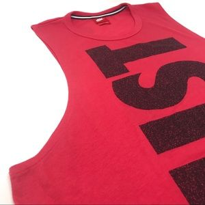 Red Nike Just Do It Muscle Shirt